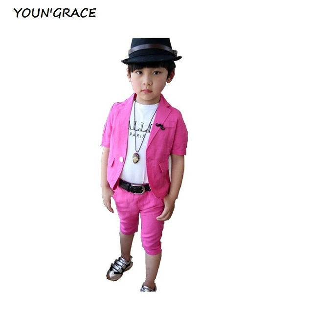 2016 распродажа дети летом конопли шорты костюмы мальчиков блейзеры с усами дети белье мода пиджак комплект одежды лета, C057