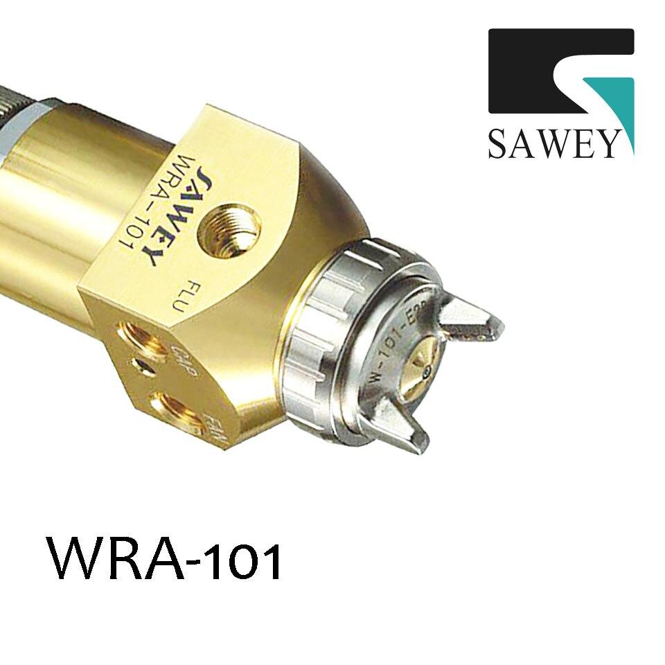 цена на SAWEY compact type high performance WRA-101 automatic auto robot paint spray gun,0.8/1.0mm FREE SHIPPING