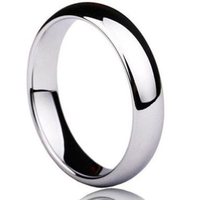 Solid Plain Dome Polish Tungsten Carbide Engagement Wedding Band Ring 4mm Classic Traditional Women Men S