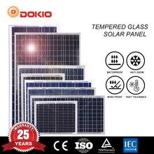 Dokio 20 à 80w 18v/12v panneau solaire polycristallin haute efficacité verre trempé panneau solaire à la maison 20w 30w 50w 80w
