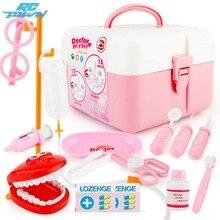 RCtown 15Pcs/set Doctor Series Play Set Children Simulation Dental Clinic Medical Kit Kids Educational Toy zk30