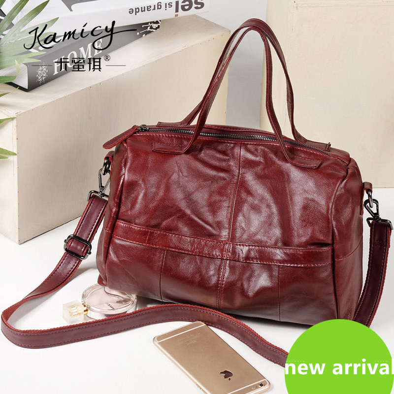 ФОТО 2017 free shipping ladiesgenuine leather fashion handbag real cow leather brand designer multi-function bag for women