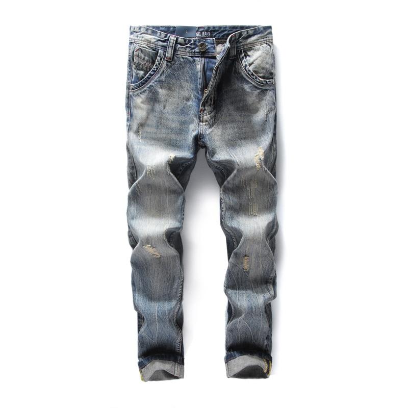 2017 New Dsel Brand Jeans Men Famous Blue Men Jeans Trousers Male Denim Straight Cut Fit Men Jeans Pants,Blue Jeans,708-3 patch jeans ripped trousers male slim straight denim blue jeans men high quality famous brand men s jeans dsel plus size 5704