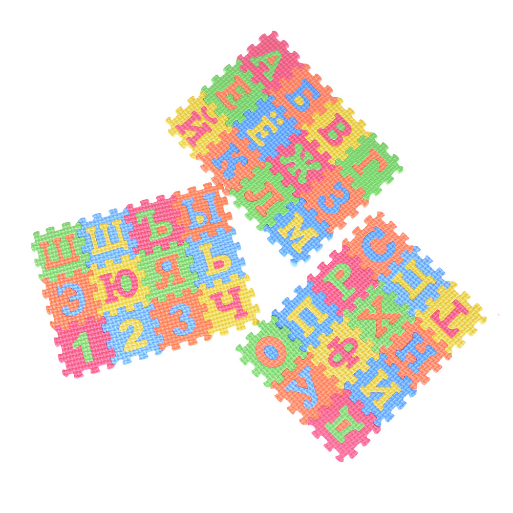 36 шт., обучающий инструмент для детей раннего возраста, коврик из пены с мультяшными буквами, цифровая головоломка, детский коврик для ползания, креативный инструмент для изучения языка