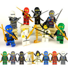 Kitoz 8pcs Ninjago Spinjitzu Sensei Wu Nya Kai Jay Lloyd Cole Ninja Figure With Swords Building BLock Toy Compatible with legos(China)