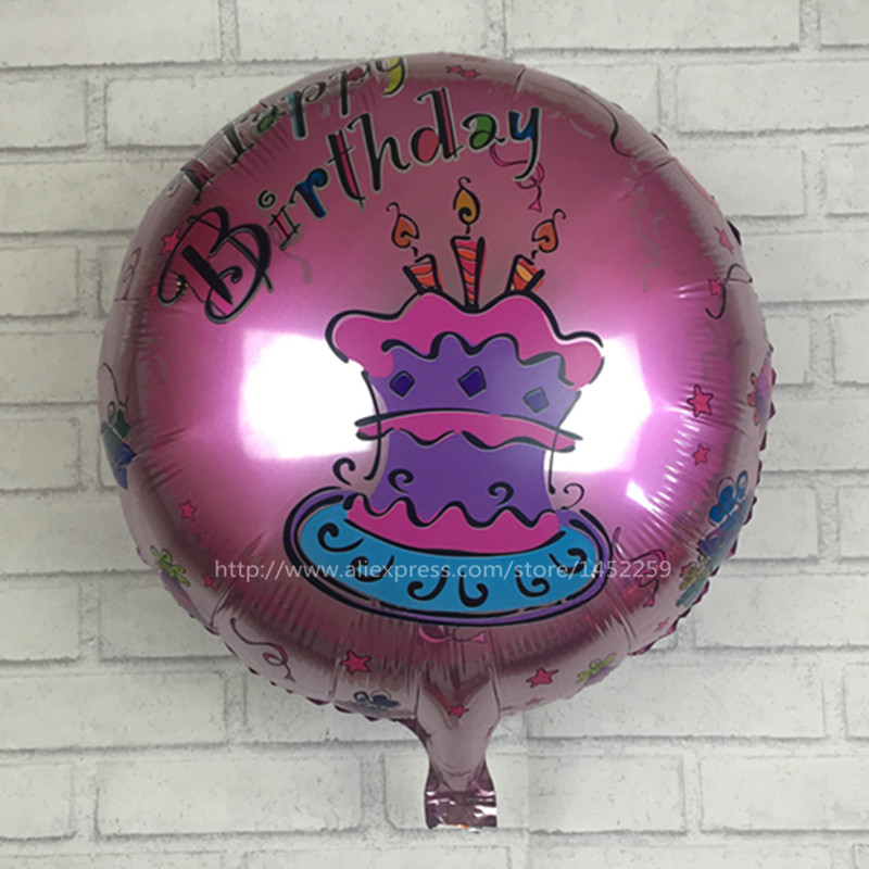 XXPWJ The new 18-inch round Happy Birthday balloons party balloons decorated chi