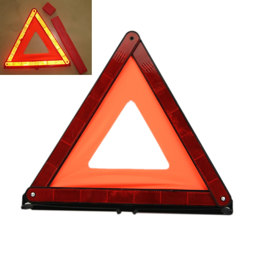 New Foldable Car Truck Safety Reflective Warning Red Triangle Emergency Marker