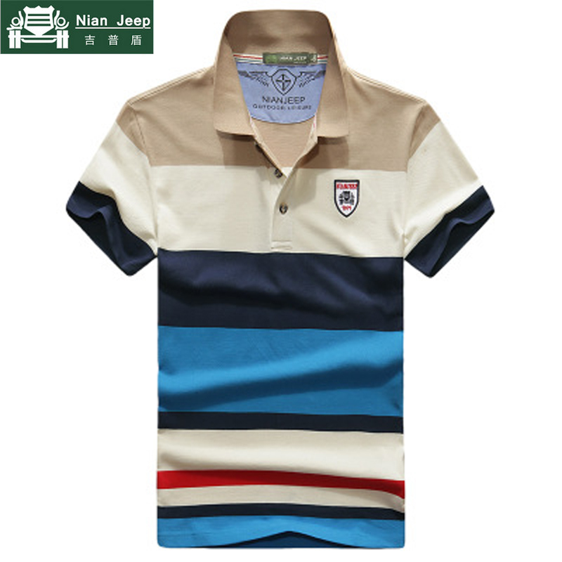 NIANJEEP 2018 POLO Shirt Men Short Sleeve Casual Cotton Patchwork Polo Summer Stand Collar Men's shirt Plus Size 3XL polo homme