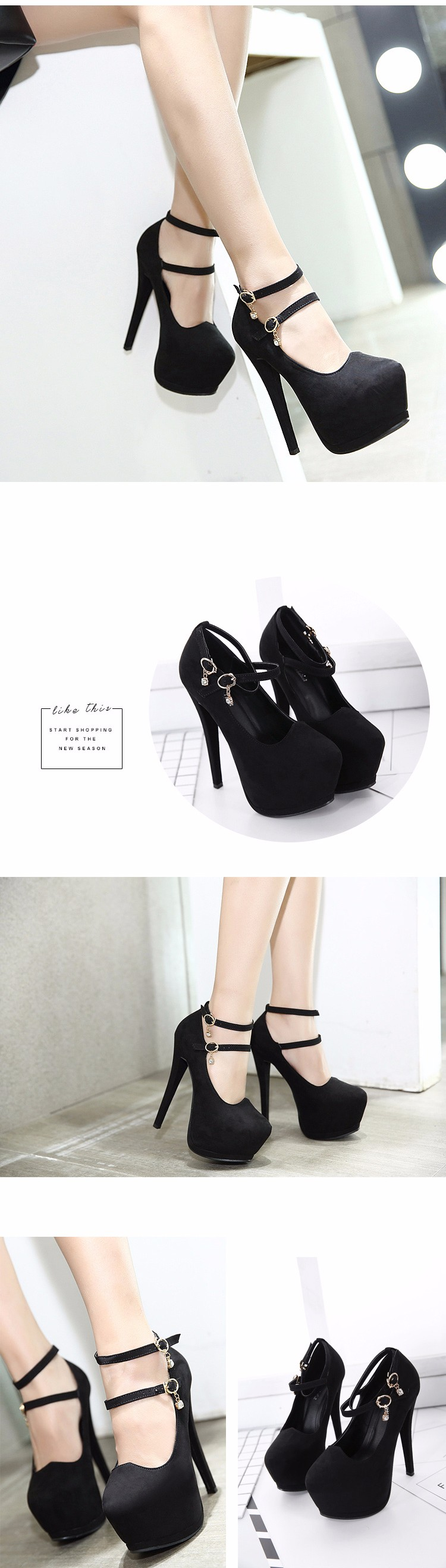 f258c196989 womens pump shoes stiletto strappy heels party shoes sexy pumps ...