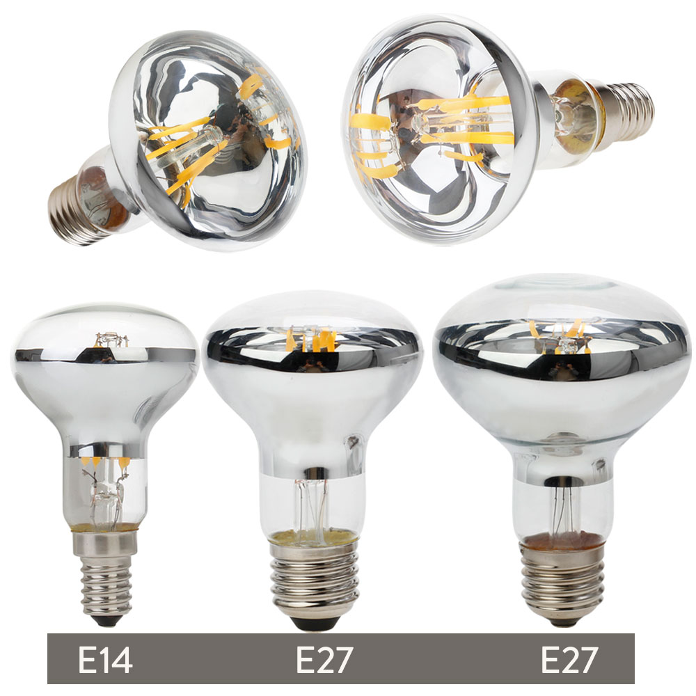Vintage Edison LED Bulb R50 R63 R80 E27 E14 Retro Reflector Filament 4W 5W 6W Energy Saving Light Replace Incandescent 60W Lamp