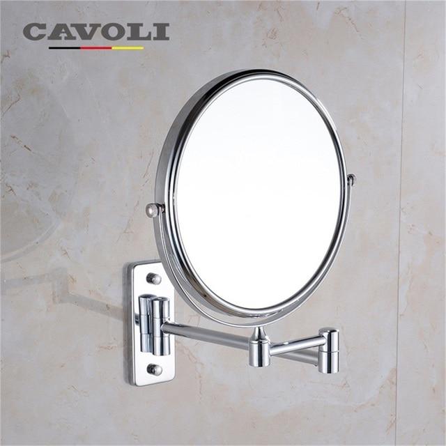 Cavoli 6 Inch Bath Mirror Cosmetic Mirror 1X/3X Magnification Wall Mounted  Adjustable Dual Arm Extend 2 Face Bathroom #MM 1112 6