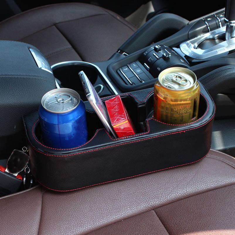 Black 2 Cup Holder Drink Beverage Seat wedge Car Auto Truck Universal Mount Dec 19