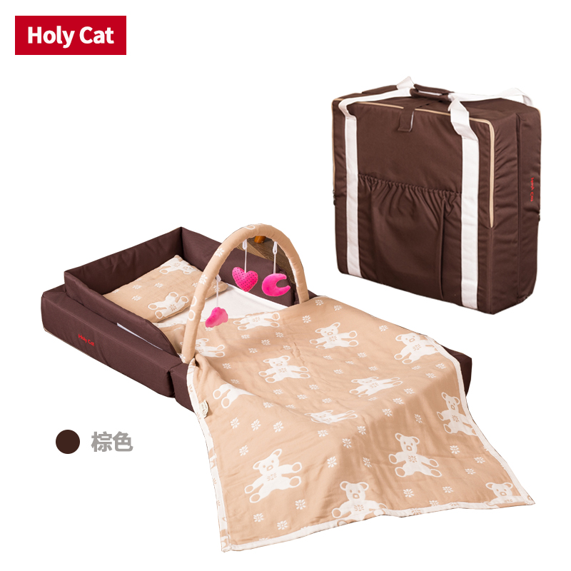 Holycat Folding Baby  Newborn Baby Portable Basket e Travel Bed with free gifts high quality export baby bed folding portable travel bed 3 colors in stock hong kong free delivery without changing table
