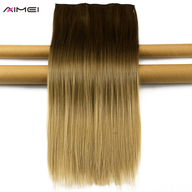 Aimei 24 60cm Straight Synthetic Hair Extensions False Ombre Blonde