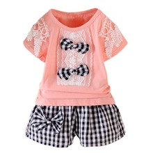 Kids Girls Summer Clothes Set Cute Little T-shirt Casual Pants Clothing for Kid Girl