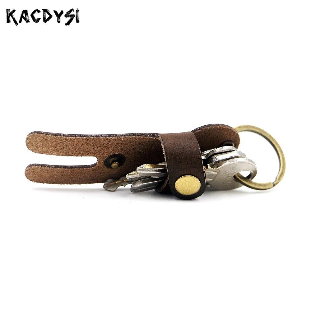 2 Stücke Crazy Horse Leder Kleine Unisex Schlüssel Halter Split Leder Vintage Mini Männer Schlüssel Kette Tasche Kreative Schlüssel Brieftasche Schlüsselring Fall Hell In Farbe