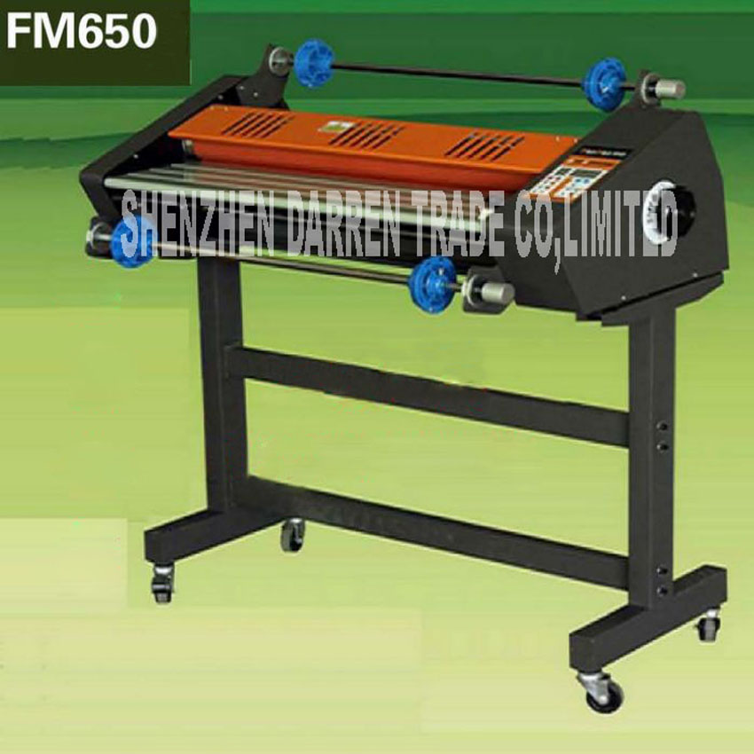 FM-650 laminating machine Hot mounted, cold mounted dual function with 3 glue sticks and a steel rod 110V 2000W