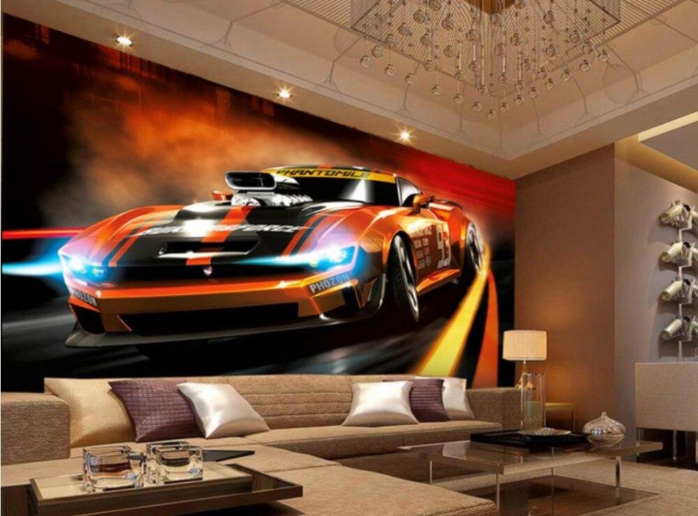 Новинка 2017 года дизайн 3d обои стиль живописи динамично спортивный автомобиль обои для стен 3 D комнате любой стене Задний план