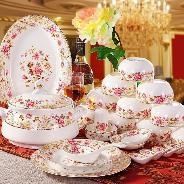 Guci Jingdezhen keramik geschirr porzellan 56 porzellan set ...