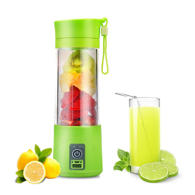 380ML Portable USB Juicer Cup Rechargeable Battery Juice Blender Extractor Fruit Vegetable Tools Kitchen Accessories