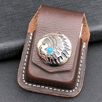 IMCO lighter Genuine Leather case leather