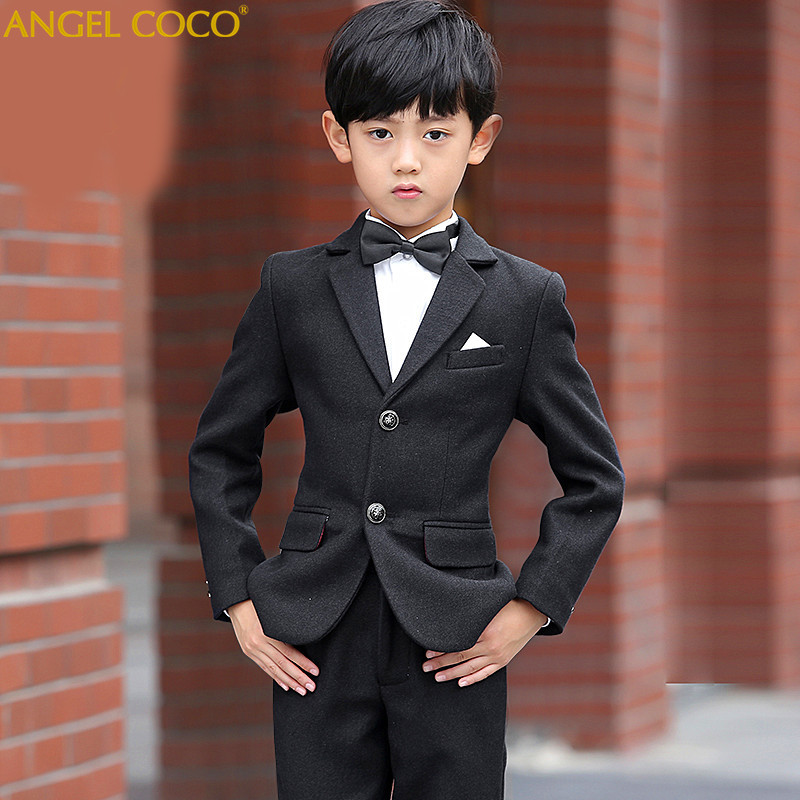 Nimble Boys Suits for Weddings New Arrival Solid Navy Blue boys wedding suit Formal suit for boy kids wedding suits blazer boys цены