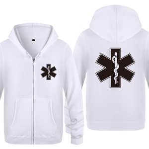 Image 2 - EMT Emergency Medical Technician Hoodies Men 2018 Mens Fleece Zipper Cardigans Hooded Sweatshirts