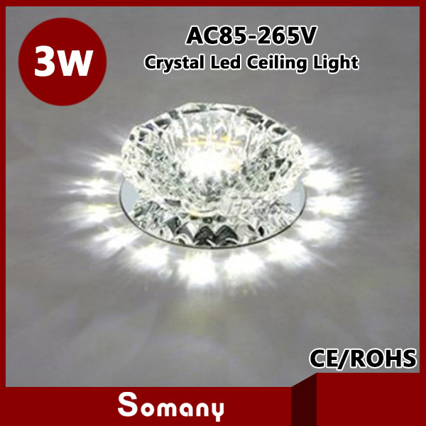 Aliexpress Buy Bedroom Cristal Down Lamp Spotlight 5 Color Warm Cool White Blue Green Red Living Room 3W Led Crystal Ceiling Light From Reliable
