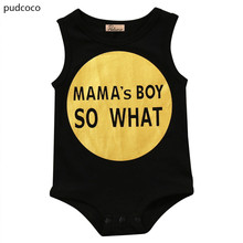 a1155e446887 Summer Sleeveless Baby Vest Rompers Infant Baby Boys Gold Letters Cotton Romper  Jumpsuit Playsuit Clothes Outfits