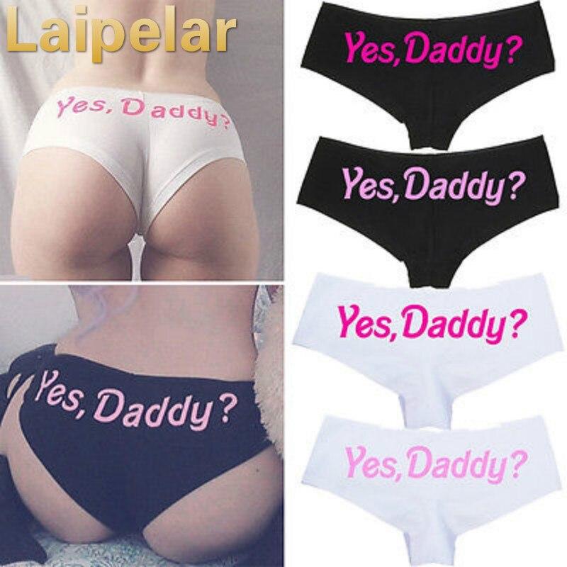 Laipelar Women Yes Daddy? Underpants Seamless women Briefs Knickers Underwear Panties