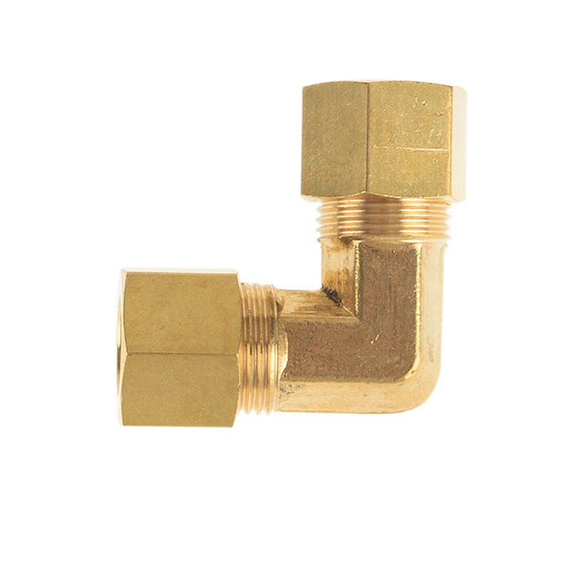 2pcs Brass Hose Compression Pipe Fitting Union Elbow for Tubo O.D 1/8 3/16 1/4 5/16 3/8 with Male NPTF