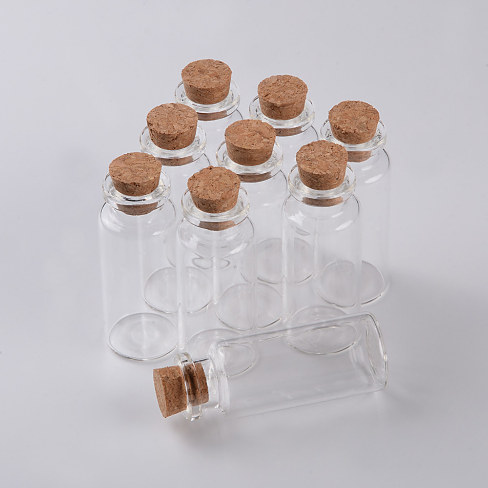 Food Grade Glass Bottle with Cork Stopper Empty Crafts Decoration Bottles Jars Vials3