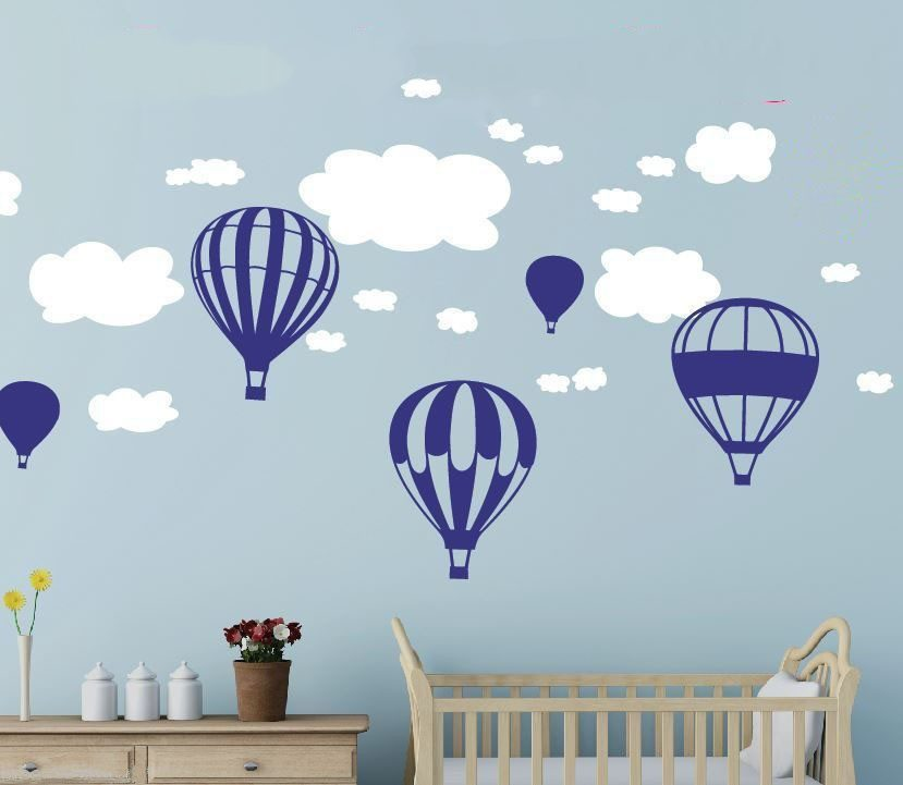 Aliexpress.com : Buy Hot Air Balloons Clouds Wall Stickers Nursery Baby  Room Wall Vinyl Decor Decoration From Reliable Balloon Mini Suppliers On  LWSFL Store