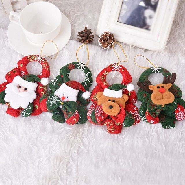 popular christmas ornaments christmas tree santa claus pendants drop christmas decorations for home decoracion