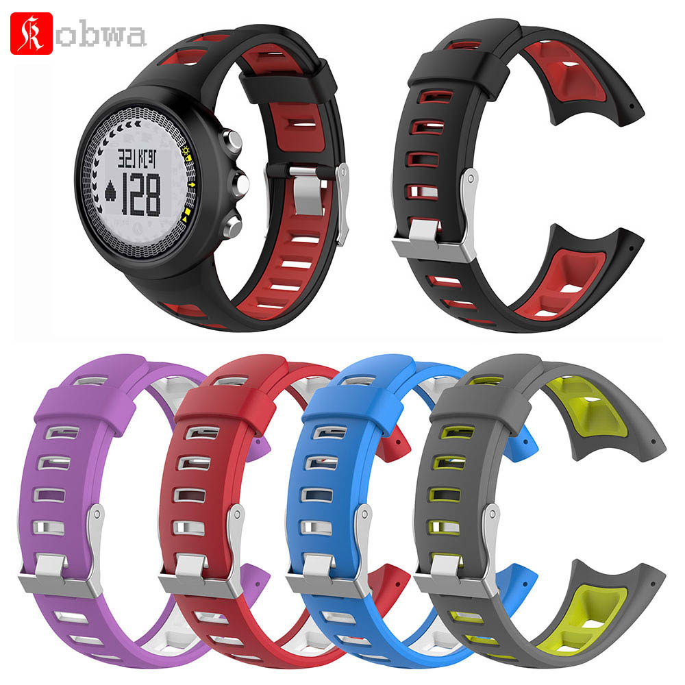 Men's Fashion Dual Color Silicone Replace Watch Band For SUUNTO Quest M1 M2 M4 M5 M Series Smart Watch Replace Strap Wristband все цены