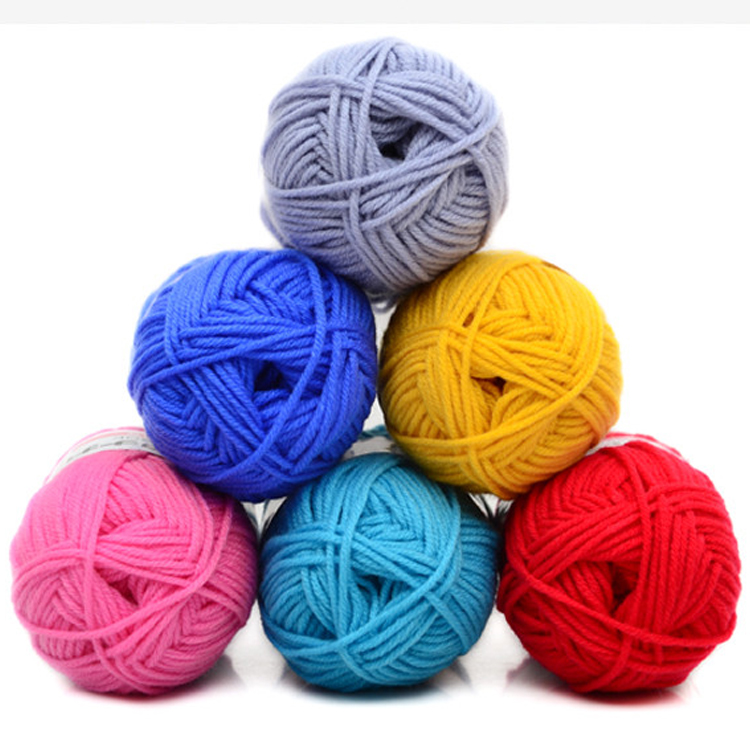 New Multi-Colors Mixed Job Lot 50g DK Knitting Crochet Milk Fiber Hand Dyed Smooth Super Soft Baby Cotton Wool Yarn ...