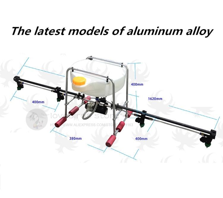 DIY-spray-system gimbal-kit Fällbar aluminiumlegering för - Radiostyrda leksaker