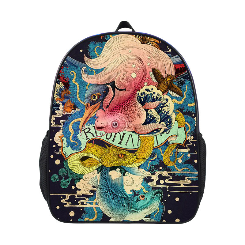 US $16 18 32% OFF Children Backpack Cute Cartoon Carp Fish Printing Kids  Kindergarten Preschool Backpacks for Boys Girls Baby School Bags  mochilas-in