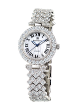 cde21732c9e Royal Crown joyería reloj 6305 MB Italia marca diamante Japón MIYOTA  platino lujo relojes pulsera brazalete