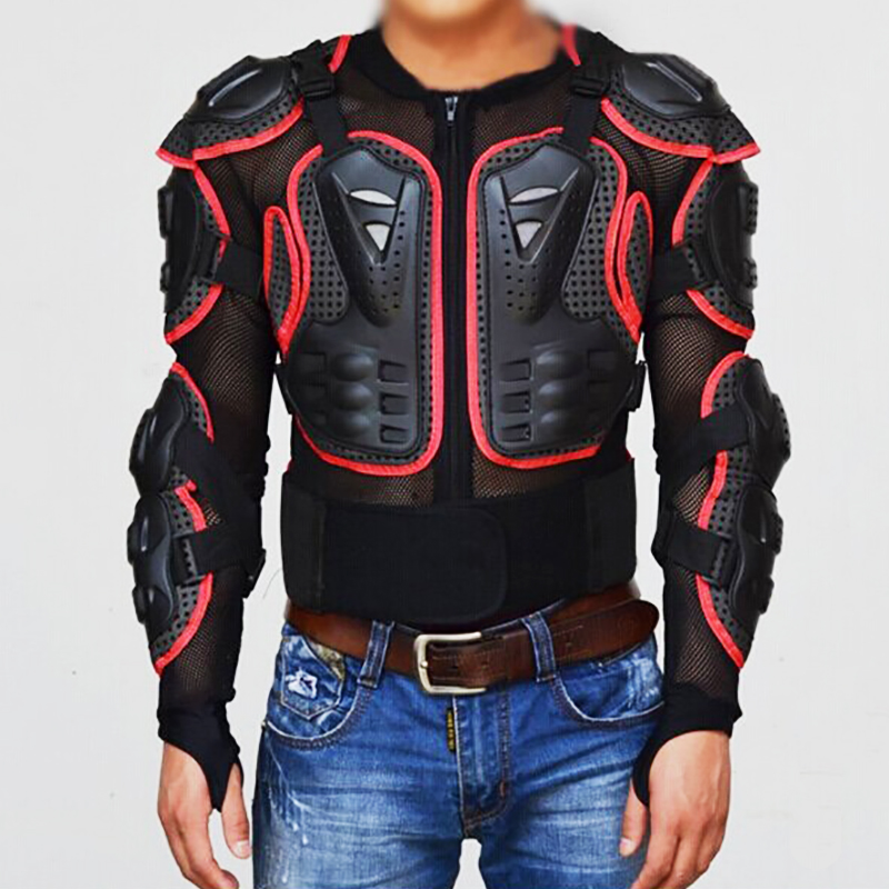 Motorcycle armor jackets full body armor spine chest for Motorcycle body armor shirt