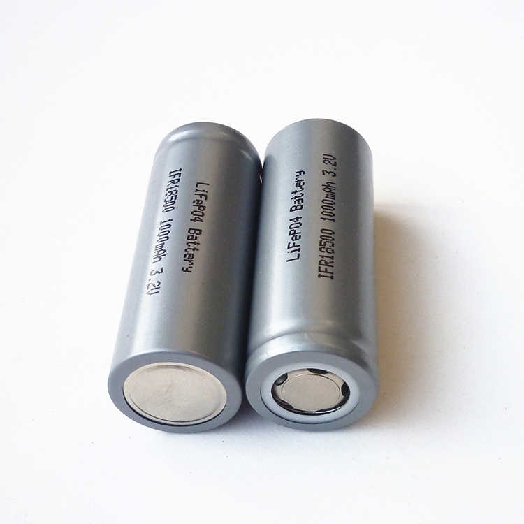 A grade LiFePO IFR 18500 lithium iron phosphate 3.2V LFP 1000mAh Rechargeable chargeable Battery Cell