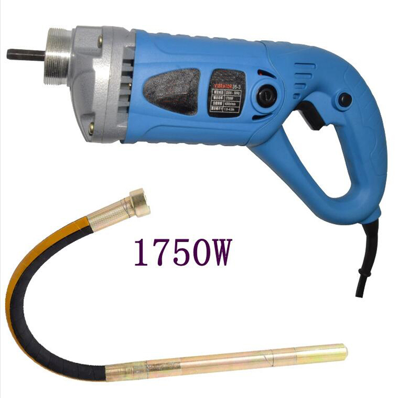 35mm Concrete Vibrator 1750W 220V With Copper Motor Construction Tools