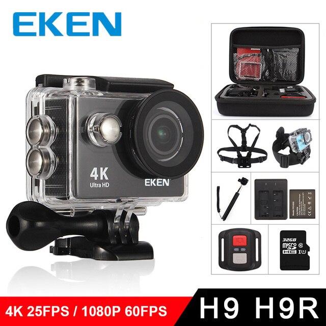 """EKEN H9การกระทำกล้องH9Rอัลตร้าHD 4พัน/25fps WiFi 2.0 """"170Dใต้น้ำกันน้ำหมวกกันน็อคผ่านกล้องกล้องกีฬาเวบ"""
