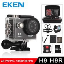 EKEN H9R H9 Action Camera Ultra HD 4K 25fps WiFi 2 0 170D Underwater Waterproof Helmet Video Recording Cameras Sport Cam cheap SPCA6350M (1080P 60FPS) 170° 2 0 OmniVision Series Support WIFI 59 3*24 6*41 1mm MicroSD TF Outdoor Sport Activities