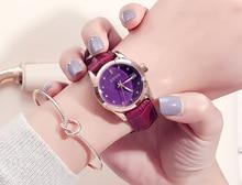 Dial simple del calendario con los relojes de las mujeres europeas antiguas relojes luminosos relojes de cristal relojes correa de reloj de moda femenina