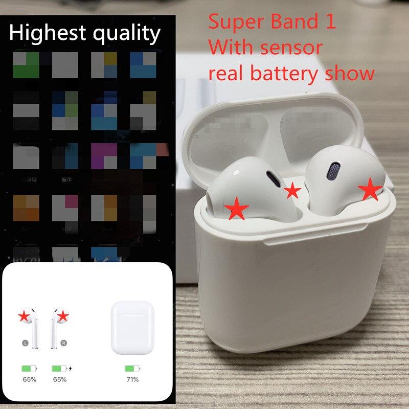 Earphone Smart-Sensor AP1 Bluetooth Brand Charging-Case Wireless With Stereo Music
