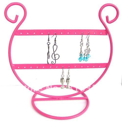 Pink Tone Earring Display Jewelry Stand Holder 20*20cm 1pcs-ED001