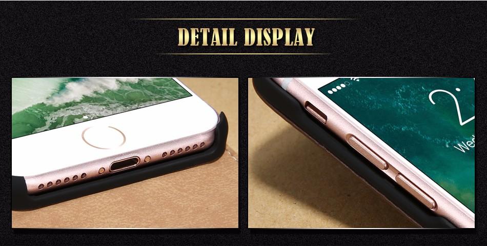 Kisscase retro 100% pu leather case for iphone 4 4s 5s 5 se 6 7 luksusowe pionie magnetic przerzucanie phone bag pokrywa dla iphone 4s 5s 5