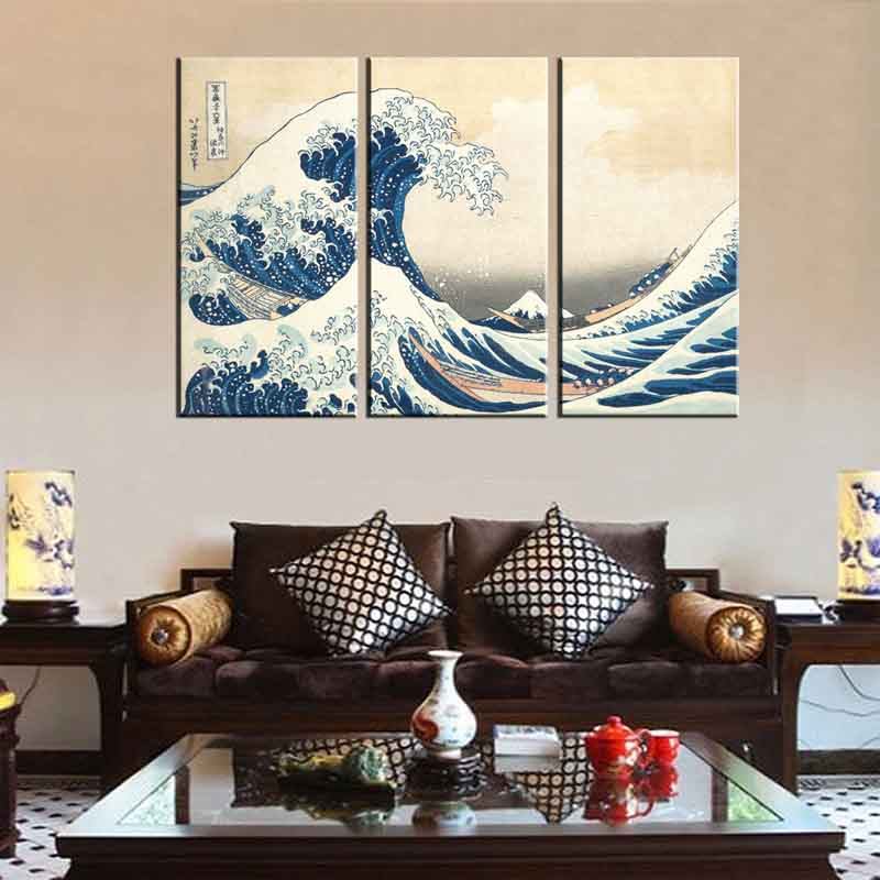 Japanese Home Decor Store: Aliexpress.com : Buy Famous Ukiyo E Kanagawa Surf Canvas