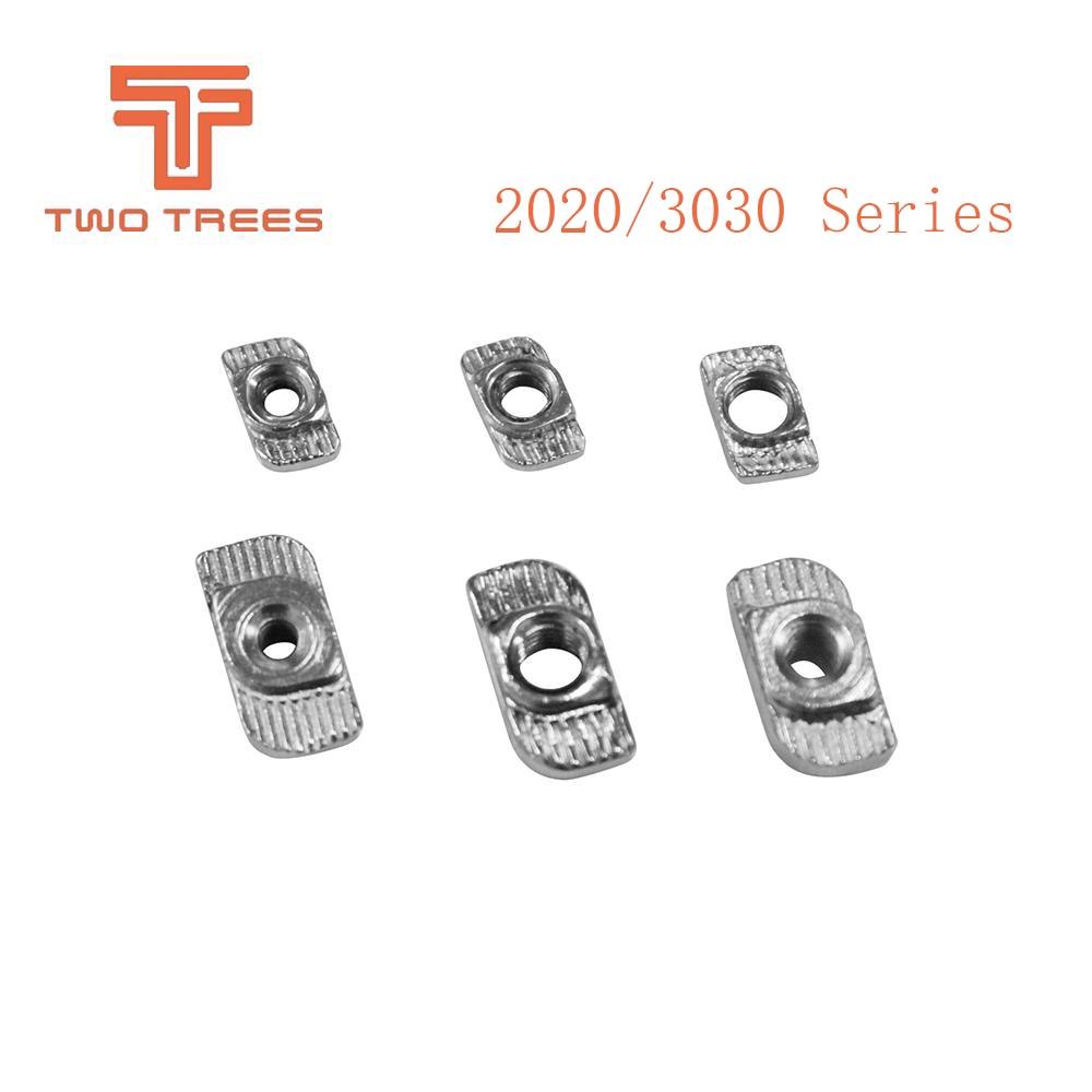 Begeistert 10 Teile/los 3d Drucker Teile M3/m4/m5 Carbon Stahl T Typ Muttern Verschluss Aluminium Anschluss Für 2020/3030 Industrielle Profil 3d-drucker Und 3d-scanner